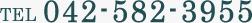 TEL 042-582-3955