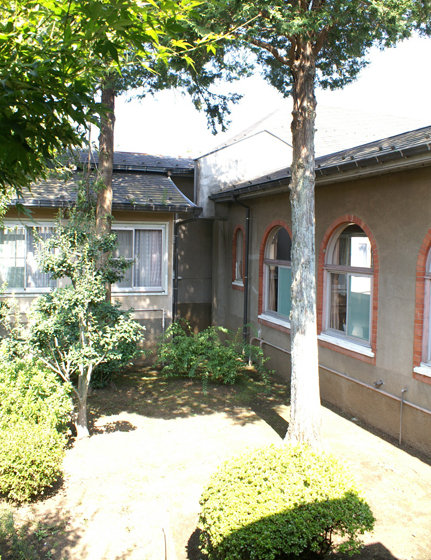 旧東京黙想の家 中庭