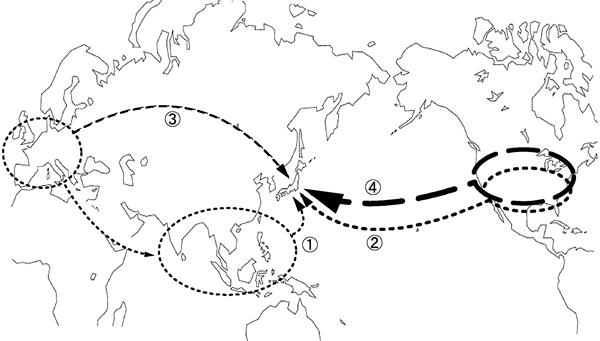 洋風建築伝播マップ