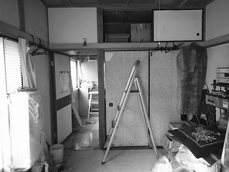 リフォーム前:寝室コーナー、収納部分