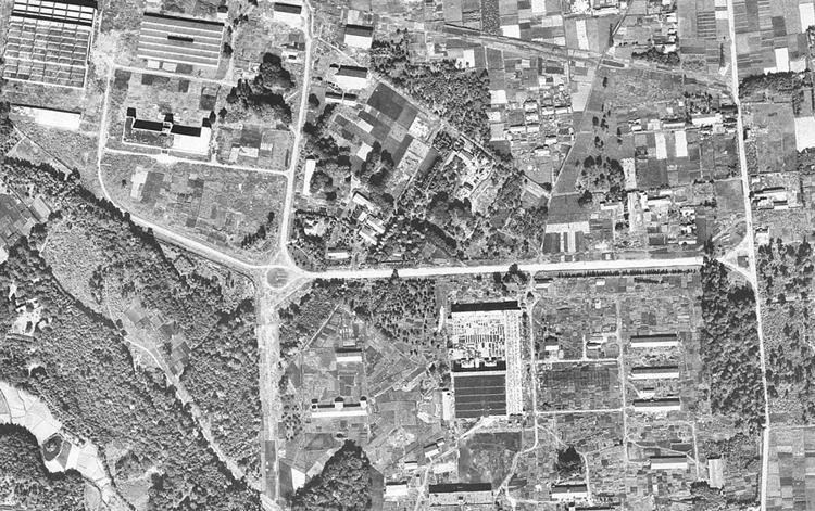 1947年撮影(国土地理院HPより)旧中島飛行機三鷹研究所