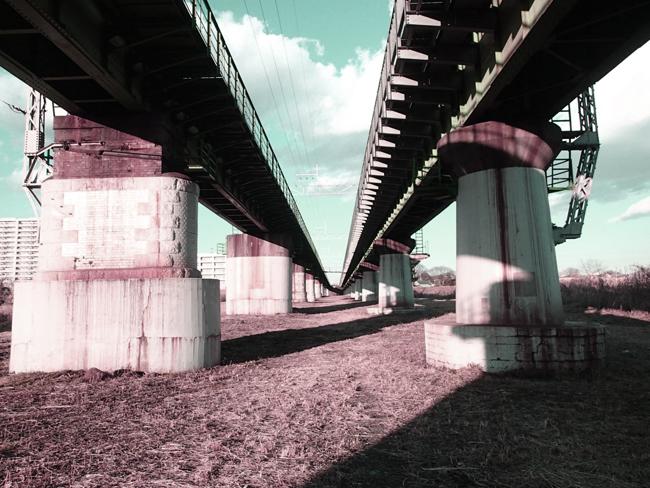 JR中央線 多摩川橋梁