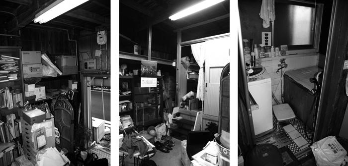 再生工事前は、荷物が雑然と置かれ、浴室も含め生活しづらい状況だった